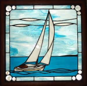 Sailboat Windows Designs Boat Glass Pattern Sail Stained 187 Patterns Gallery