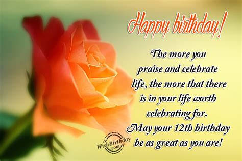 12 wishes of birthday wishes for twelve year birthday images