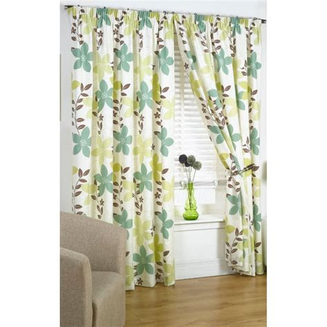 Buy Izabelle Green And Cream Curtains