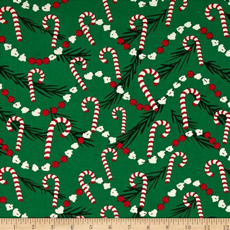 wallpaper christmas material michael miller holiday corny cane discount designer