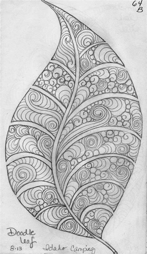 easy pattern sketch luann kessi sketch book leaf designs 5