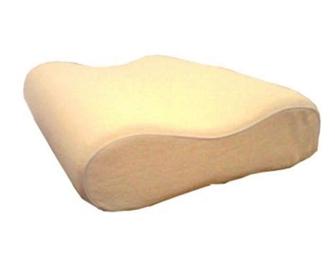 curved shape spine align memory foam pillow