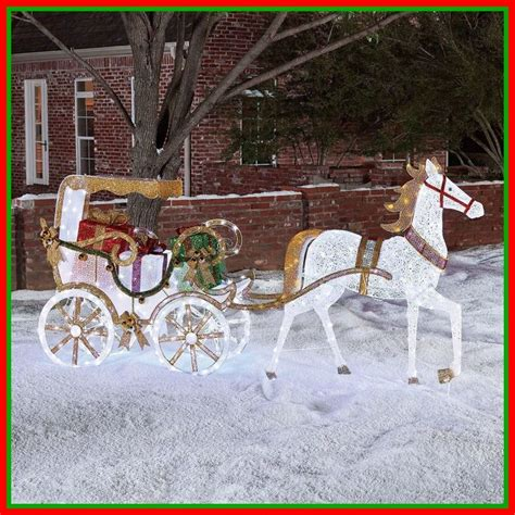 lighted christmas horse and carriage pre lit lighted carriage outdoor yard decoration sale 5 nbnb
