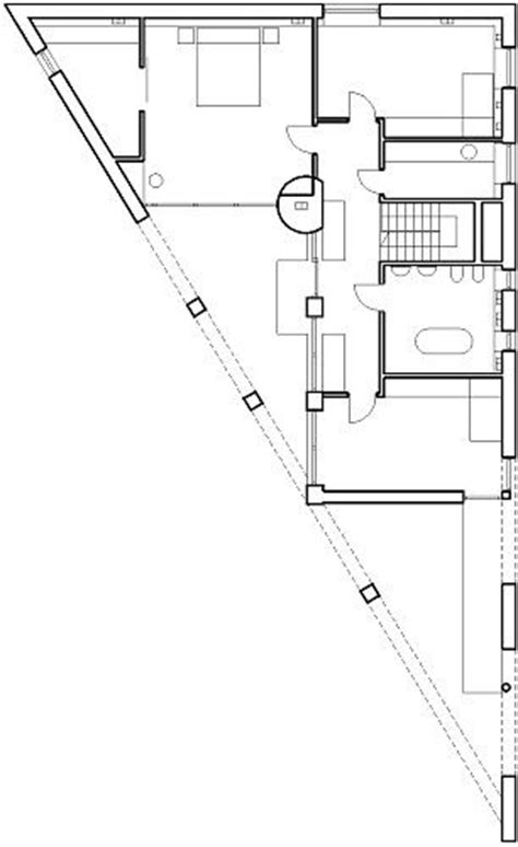 triangular house floor plans triangle house by kwk promes l2 plan triangle house