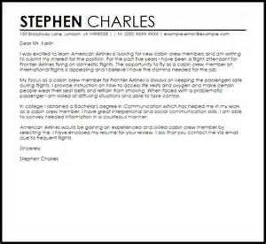 sle cover letter for a cabin crew cover letters