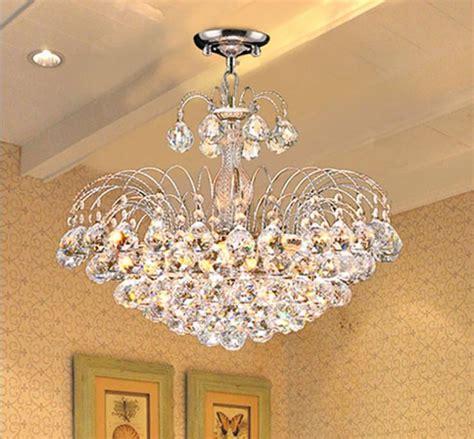 discount  crystal chandelier modern bedroom hotel living room ceiling lights fixture crystal