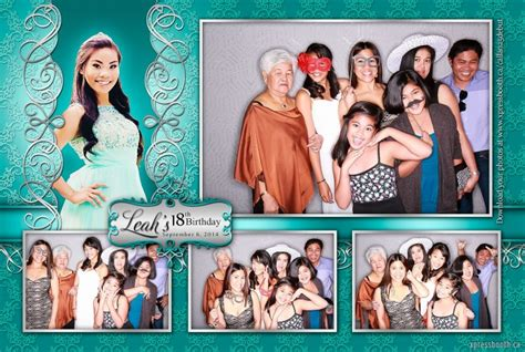 photo booth layout design for debut double celebration with 2 photo booth layouts