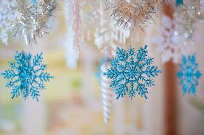Blue Snowflakes Decorations by Blue Decorations Snow Snowflake Image