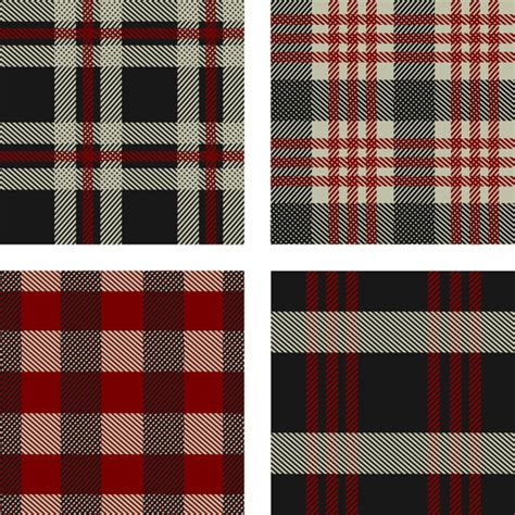 plaid pattern font fabric plaid pattern vector material 08 vector pattern