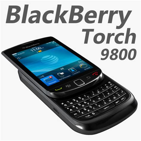 format video blackberry 9800 3d model blackberry torch 9800