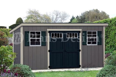 16 X 6 Shed by Storage Shed Plans 6 X 16 Deluxe Building Modern Style