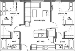 2 bed 2 bath floor plans 2 bed 2 bath apartment wait list the callaway house