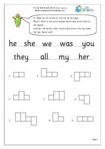 tricky word activities 3 english worksheet for key stage 1