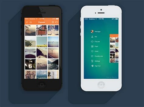 design application menu eye catching mobile app interfaces with sleek gradient
