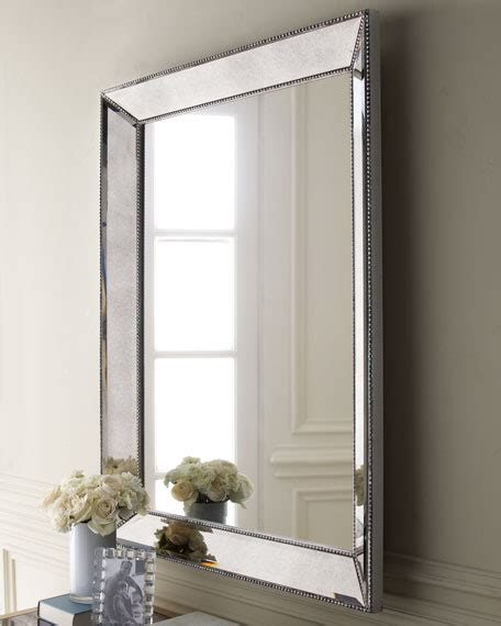 beaded frame mirror this generous scaled beveled mirror beaded wall mirror 36 5 quot w