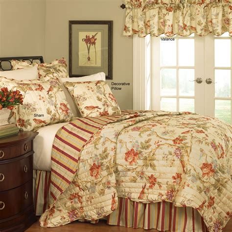 waverly bedding sets charleston chirp quilt set by waverly bedding