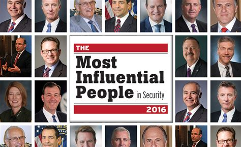 Who Has Most Influence by The Most Influential In Security 2016 2016 09 01