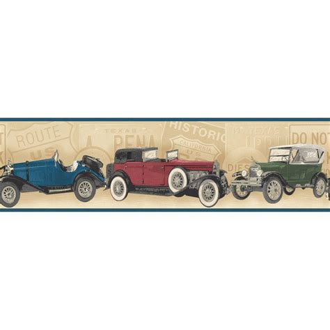 Antique Car Wallpaper Borders by The Wallpaper Company 8 In X 10 In Tone Antique