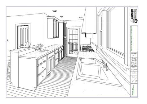 Kitchen Blueprints larchmont kitchen floor plan