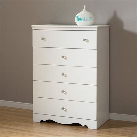 White Dresser And Chest Set South Shore 5 Drawer Chest In White 3550035