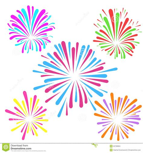 festive fireworks pattern template layout stock vector