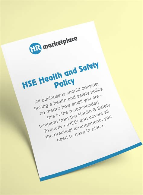 health and safety policy hse health and safety policy hr marketplace a one stop