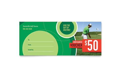 Golf Gift Card Template by Golf Tournament Gift Certificate Template Design