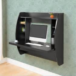Wall Office Desk Black Office Computer Desk Floating Wall Mount Desk Storage Shelf Pc Table New Ebay