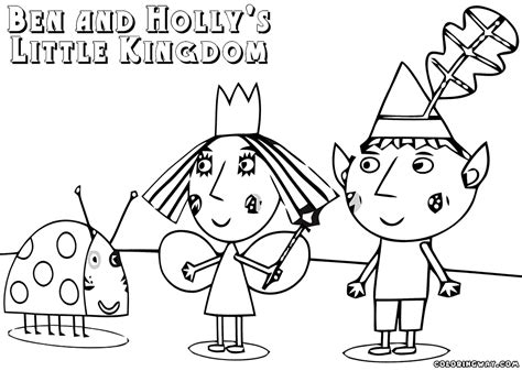 princess holly coloring page ben holly free colouring pages