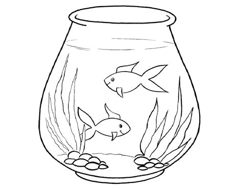 Fish Tank Coloring Page Coloring Home Fish Tank Coloring Pages