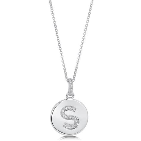 berricle sterling silver cz initial letter fashion pendant