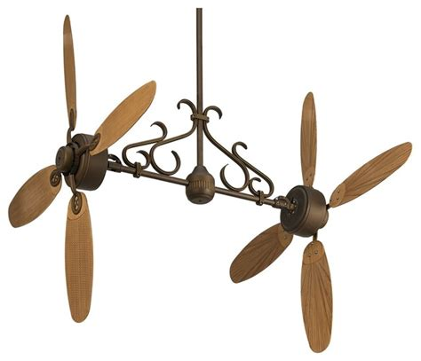 Country Style Ceiling Fans by Country Cottage 52 Quot Casa Rattan Dual Bronze