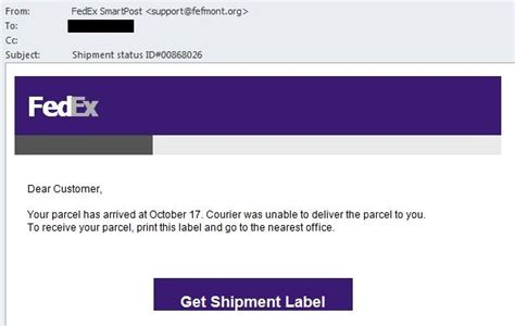 What A Surprisefedex Is by Fedex Package Undeliverable Notice Or A Secret