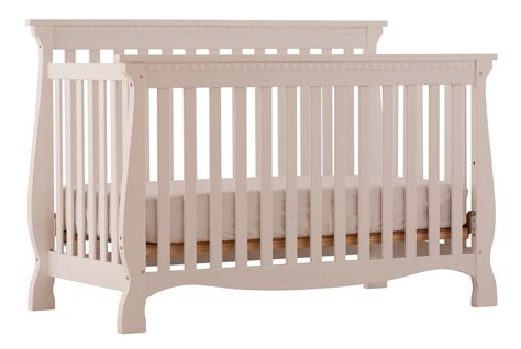White Crib Convertible Venetian White 4 In 1 Fixed Side Convertible Crib At Gowfb Ca Baby Furniture Storkcraft
