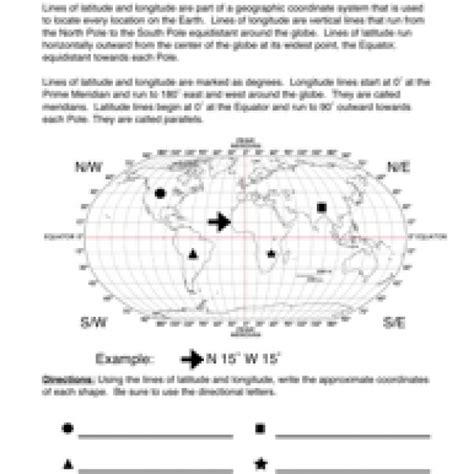 Latitude And Longitude Worksheet by Latitude And Longitude Worksheet 1