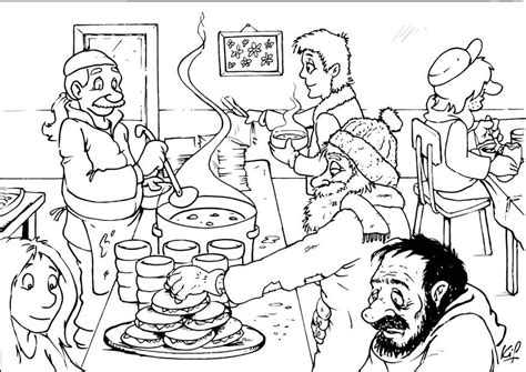 soup kitchen coloring page coloring page soup kitchen img 26986