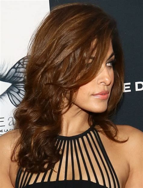 brunette hairstyles with bangs 2014 2014 eva mendes hairstyles brown long hair eva mendes