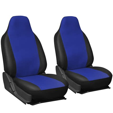 seat car seat covers faux leather car seat covers blue black 2pc set w