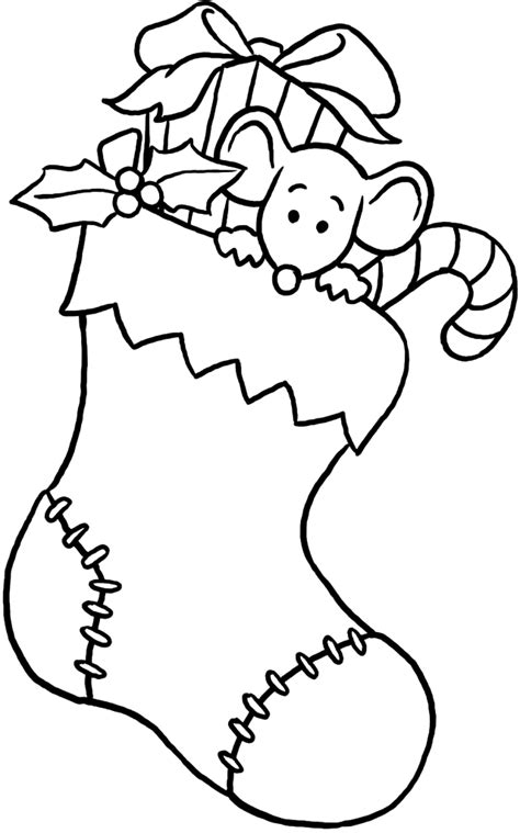 christmas coloring pages stocking blank cartoon christmas stocking cliparts co