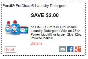 Persil Printable Coupon persil powerpearls laundry detergent only 7 97