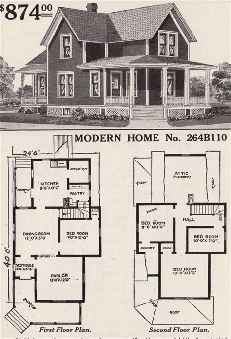 vintage home floor plans modern home 264b110 farmhouse style 1916 sears house plans