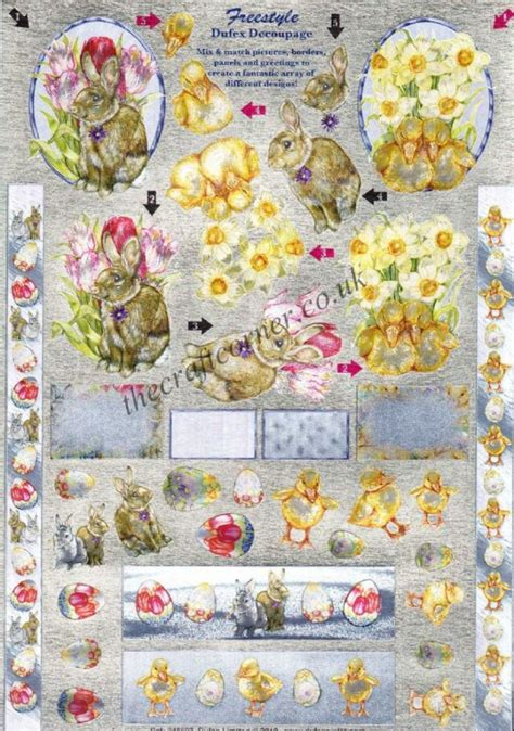 die cut decoupage sheets easter freestyle die cut 3d decoupage sheet from dufex