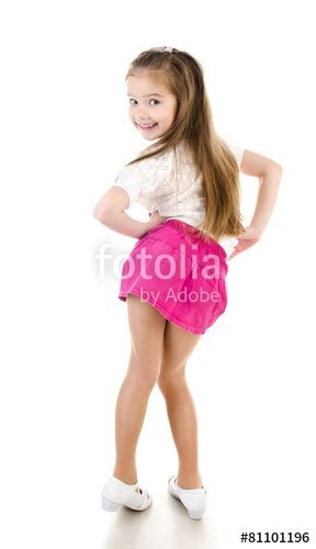 little cherish young models pics gallery quot adorable happy little girl posing back view isolated