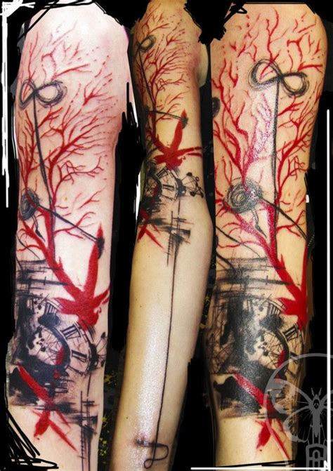 red watercolor dark tattoo google search tattoos