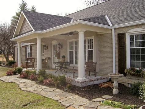 ranch homes with front porches adding a front porch to a ranch house home design ideas
