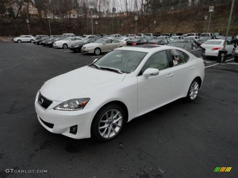 white lexus is 250 2012 starfire white pearl 2012 lexus is 250 awd exterior photo