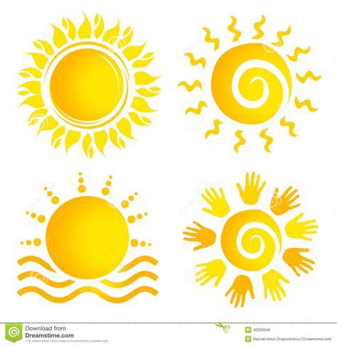 sun l for people sun logo set stock illustration illustration of company