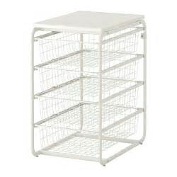 algot frame with 4 wire baskets top shelf ikea