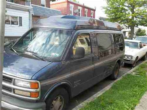 how cars run 1997 chevrolet express 2500 electronic toll collection sell used 1997 chevy express hi top conversion van navy blue automatic in philadelphia