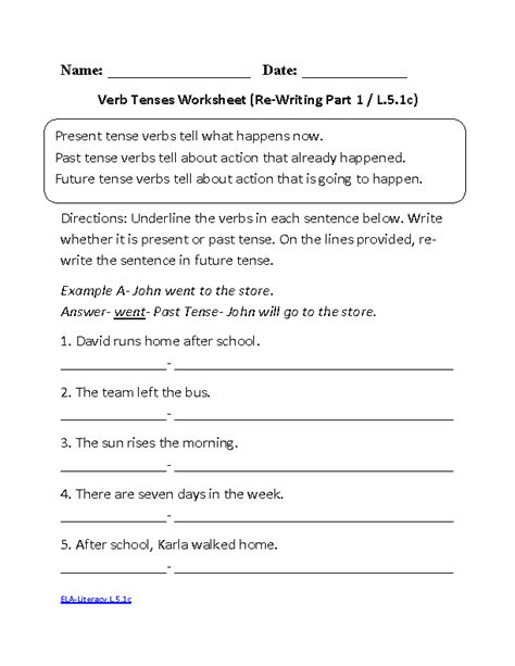 free future tense worksheets for grade 4 present tense verbs worksheets 4th grade present tense